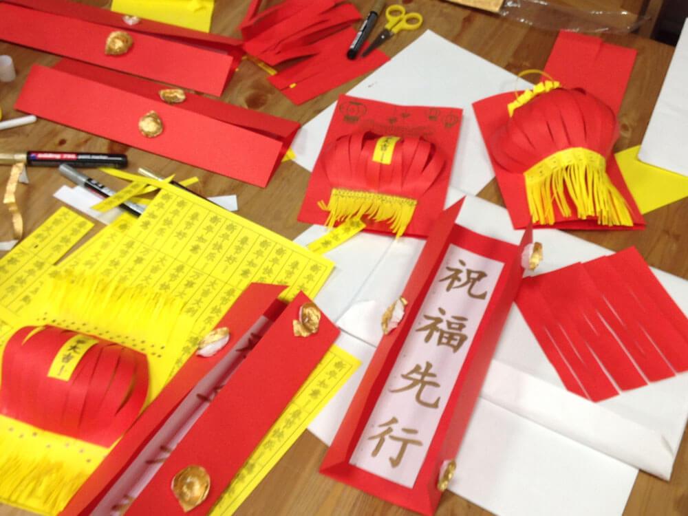 Китайский фонарик и 春联 парные надписи