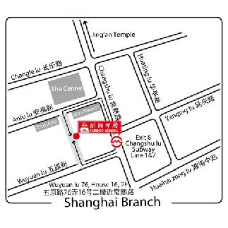 Школа Хутонг в Шанхае на карте