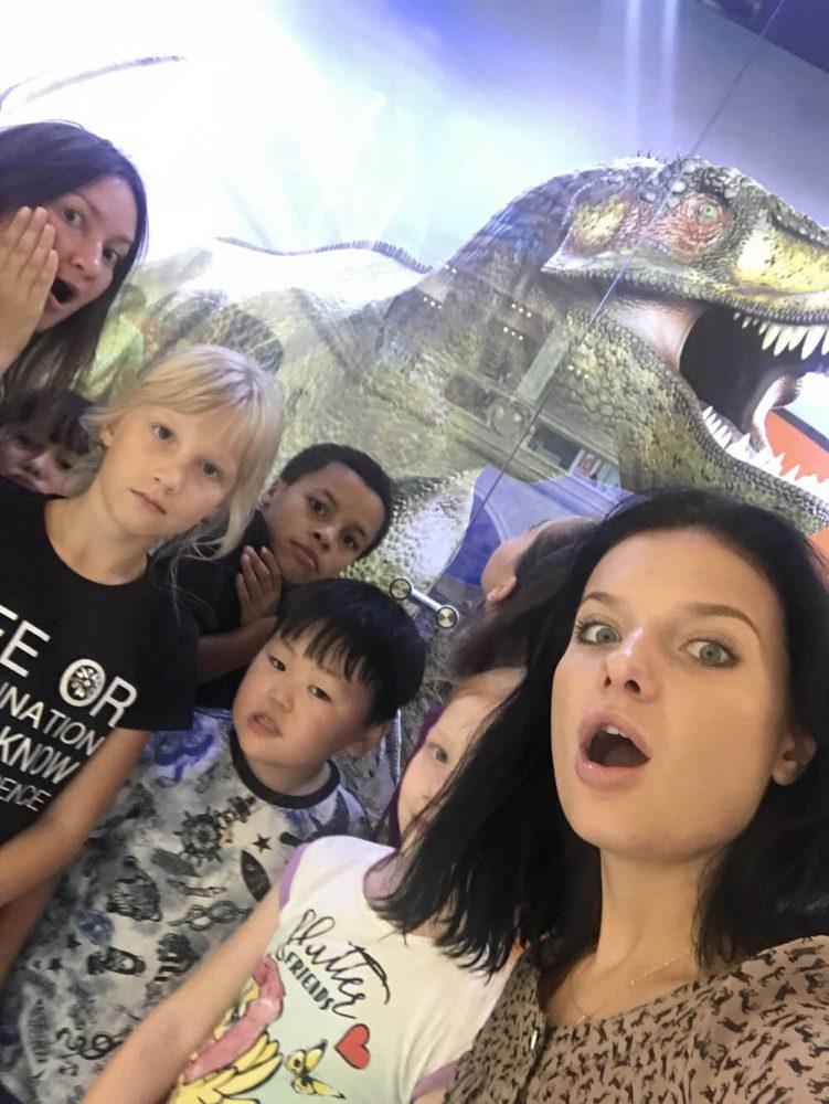 Селфи с динозавром