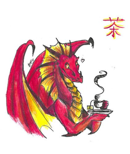 Дракон. Рисунок Саши